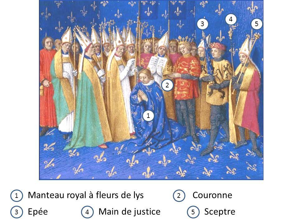 Manteau royal à fleurs de lys Couronne