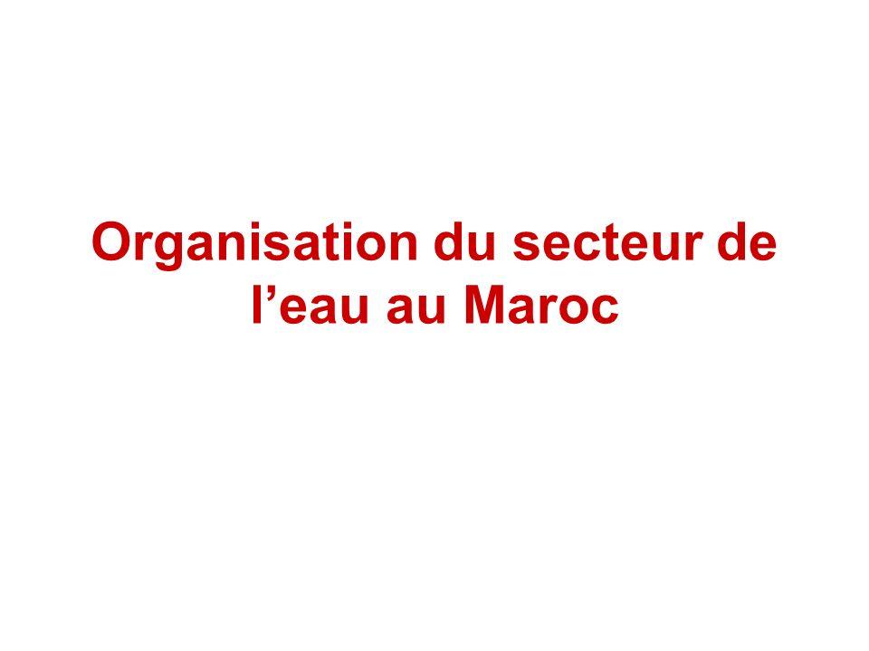 Organisation du secteur de l'eau au Maroc