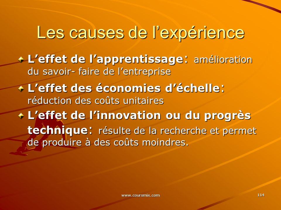 Les causes de l'expérience
