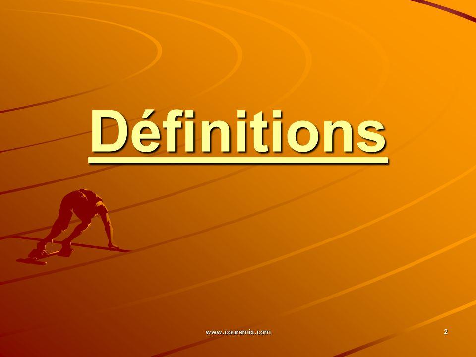 Définitions www.coursmix.com