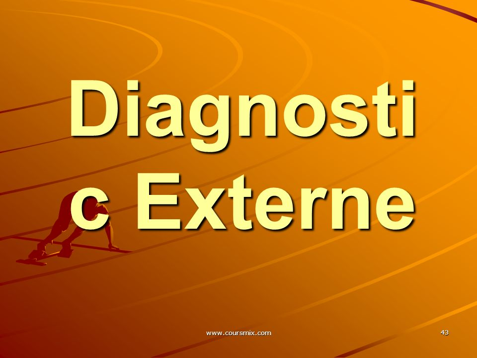 Diagnostic Externe www.coursmix.com