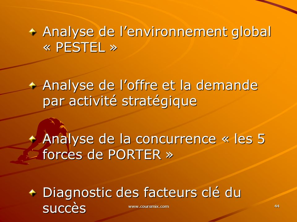 Analyse de l'environnement global « PESTEL »