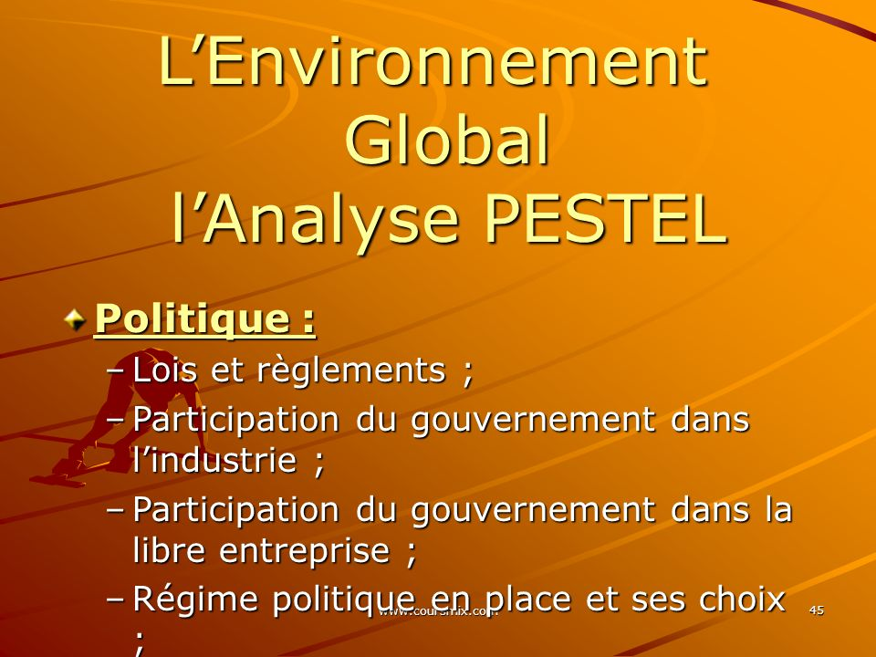 L'Environnement Global l'Analyse PESTEL