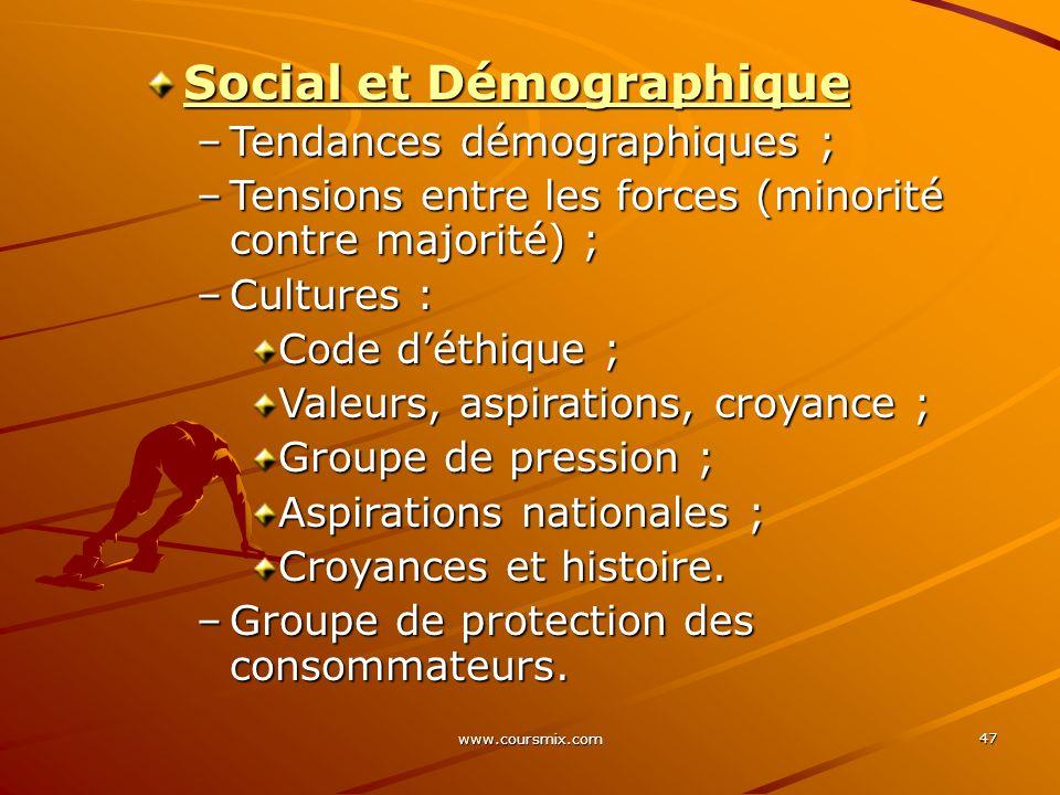 Social et Démographique