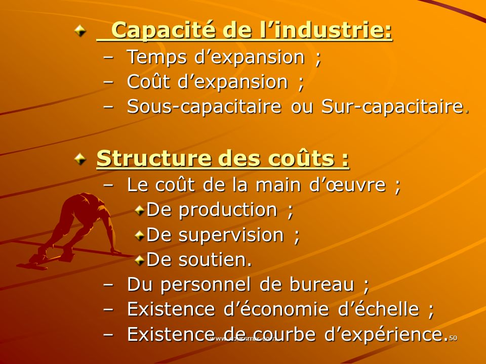 Capacité de l'industrie: