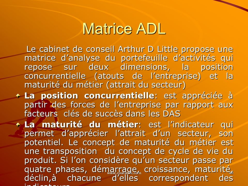 Matrice ADL