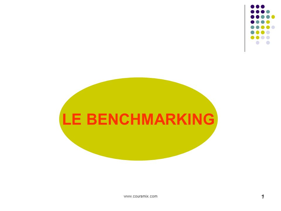 LE BENCHMARKING   1