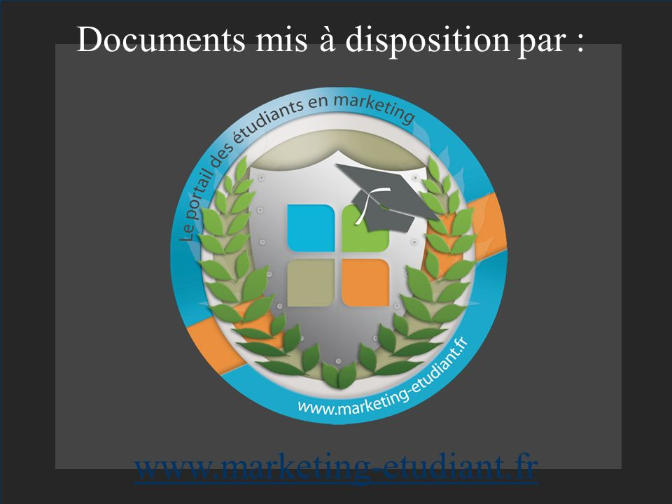 Ecueils à éviter Documents mis à disposition par :