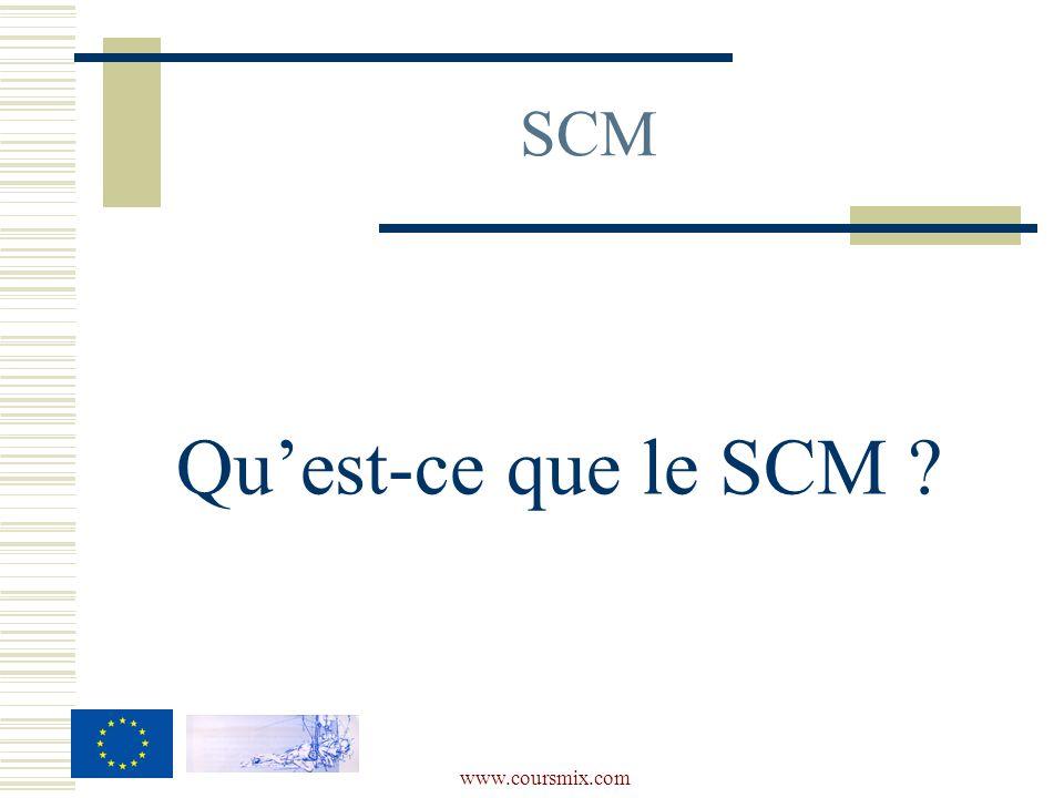 SCM Qu'est-ce que le SCM www.coursmix.com