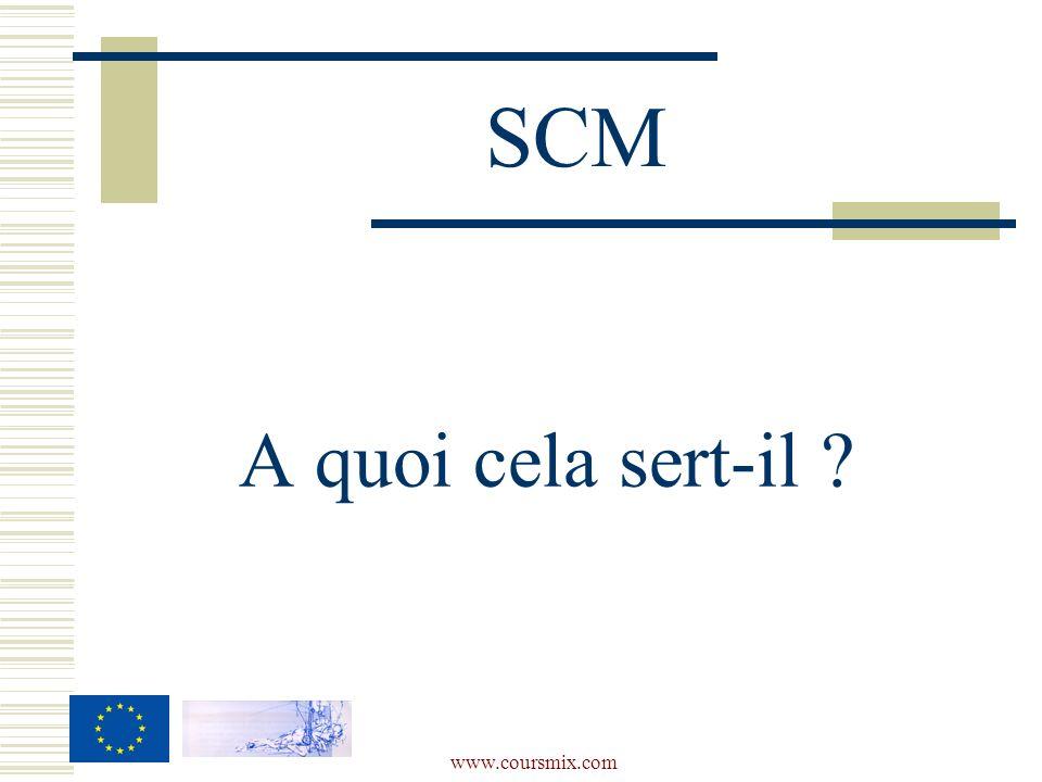 SCM A quoi cela sert-il www.coursmix.com