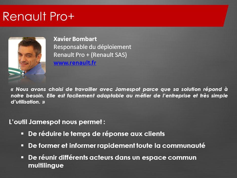 Renault Pro+ Xavier Bombart Responsable du déploiement