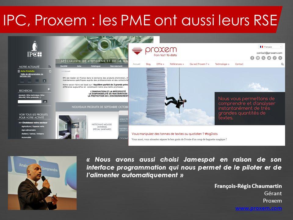 IPC, Proxem : les PME ont aussi leurs RSE