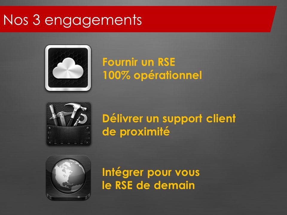 Nos 3 engagements Fournir un RSE 100% opérationnel