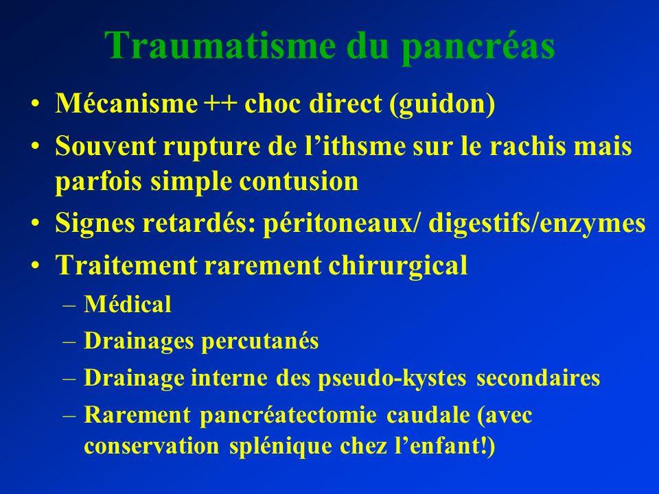 Traumatisme du pancréas