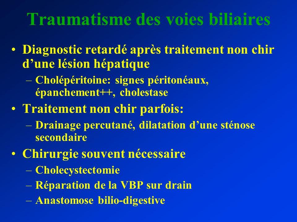 Traumatisme des voies biliaires