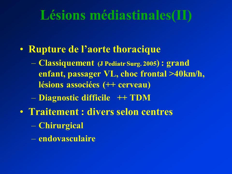 Lésions médiastinales(II)