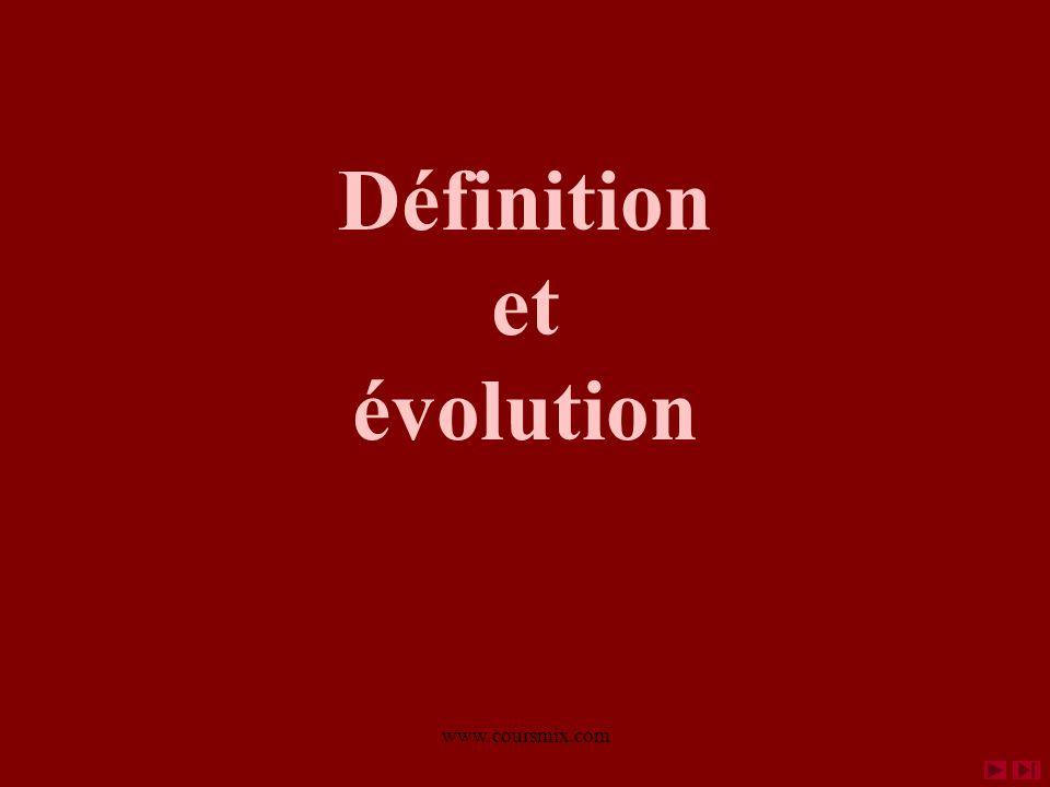 Définition et évolution