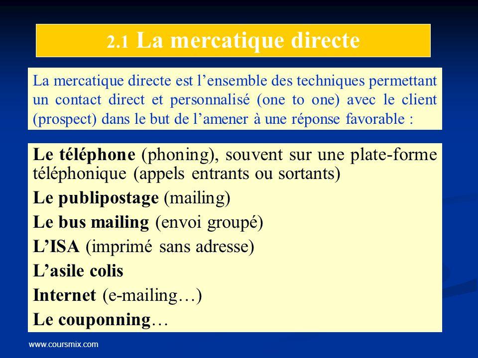 Le publipostage (mailing) Le bus mailing (envoi groupé)