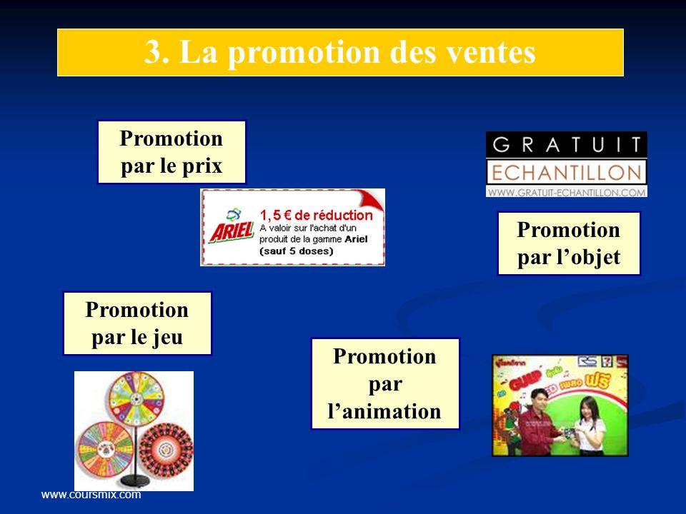 3. La promotion des ventes Promotion par l'animation