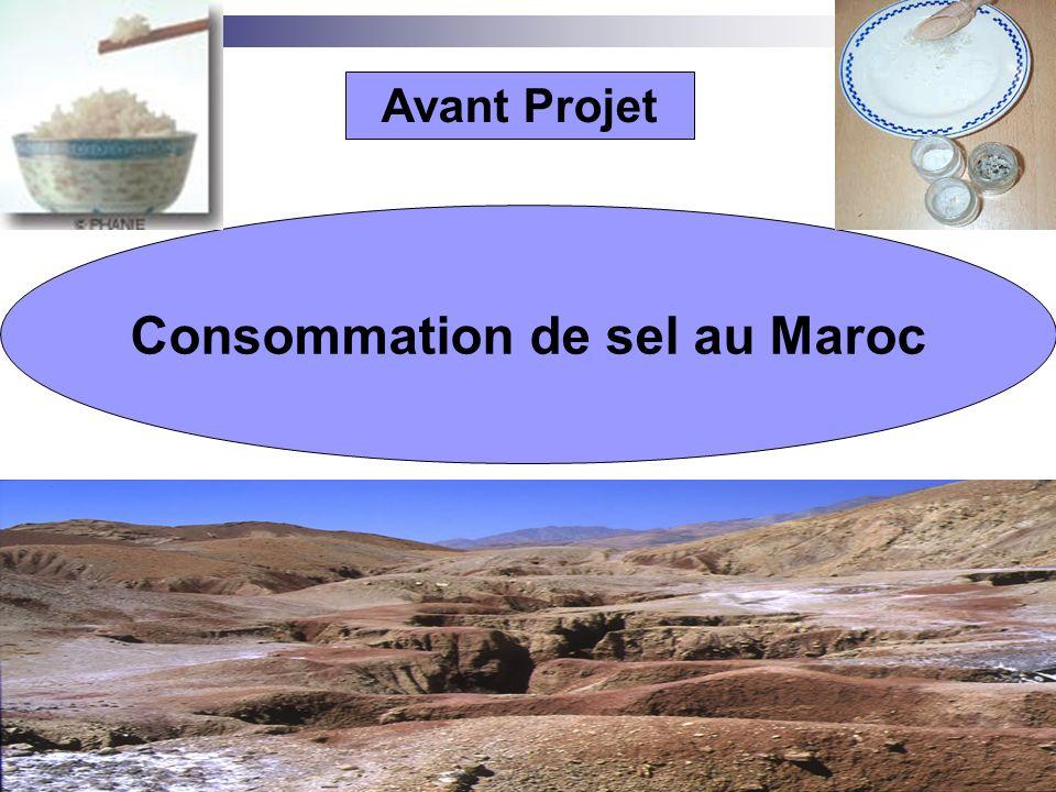 Consommation de sel au Maroc