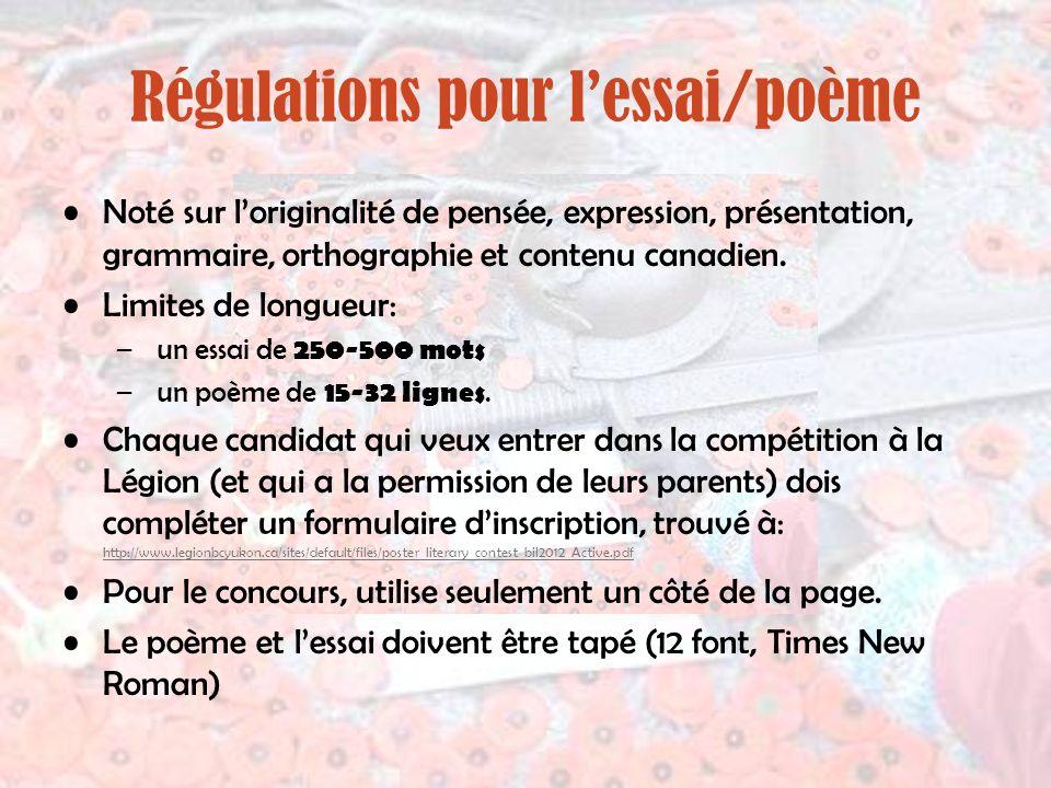 Régulations pour l'essai/poème