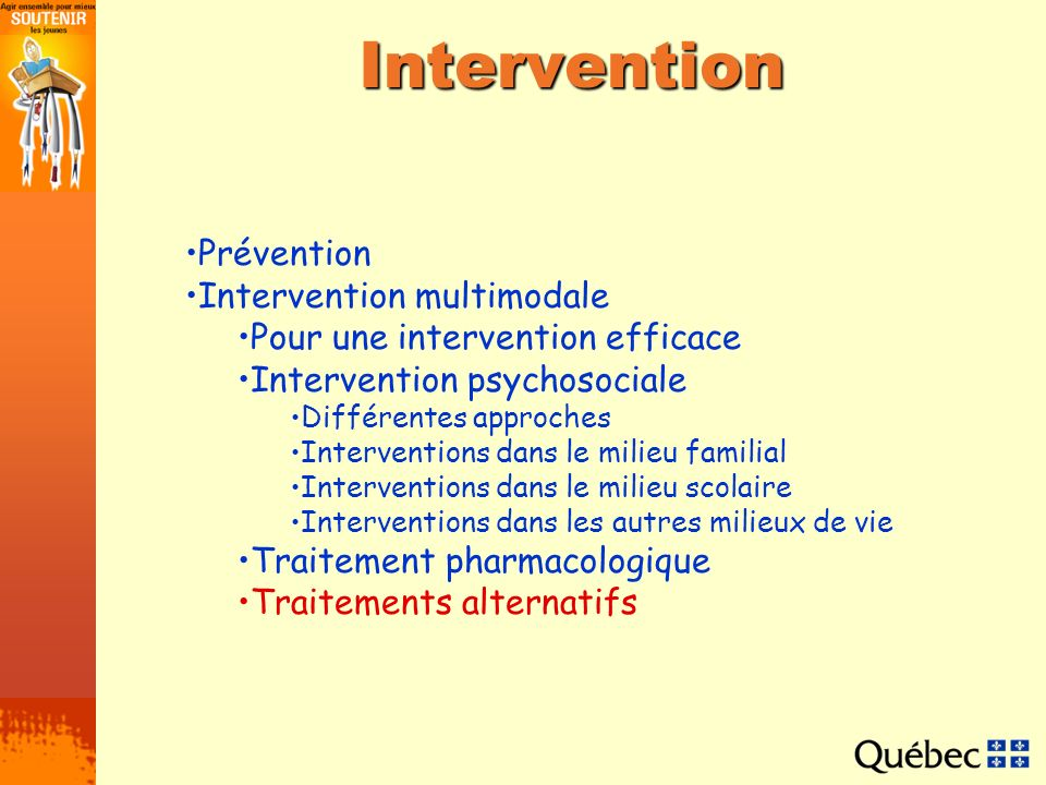 Intervention Prévention Intervention multimodale