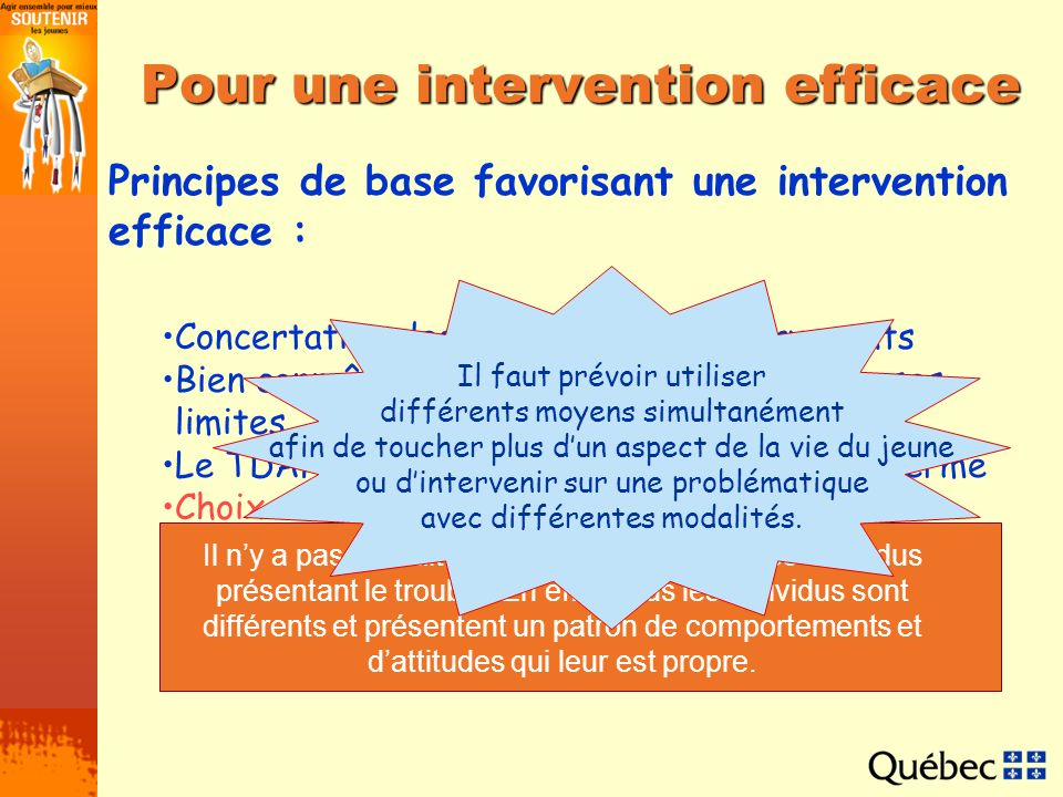 Pour une intervention efficace