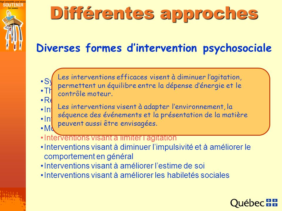 Différentes approches