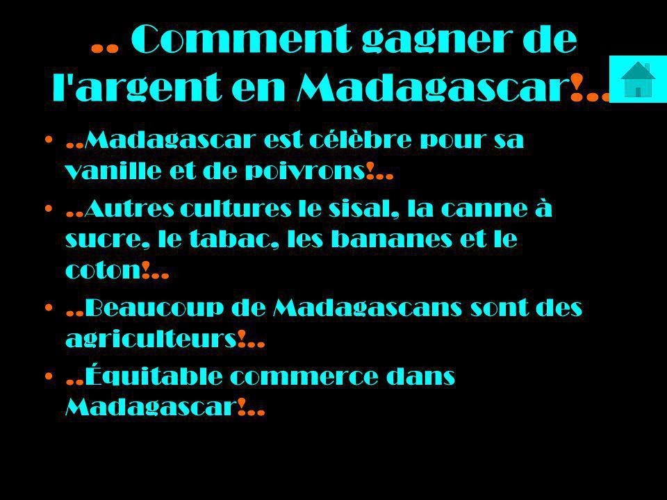 .. Comment gagner de l argent en Madagascar!..