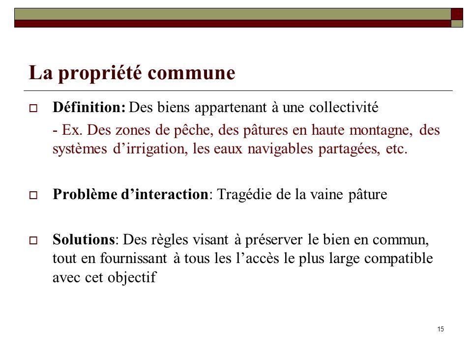 La propriété communeDéfinition: Des biens appartenant à une collectivité.