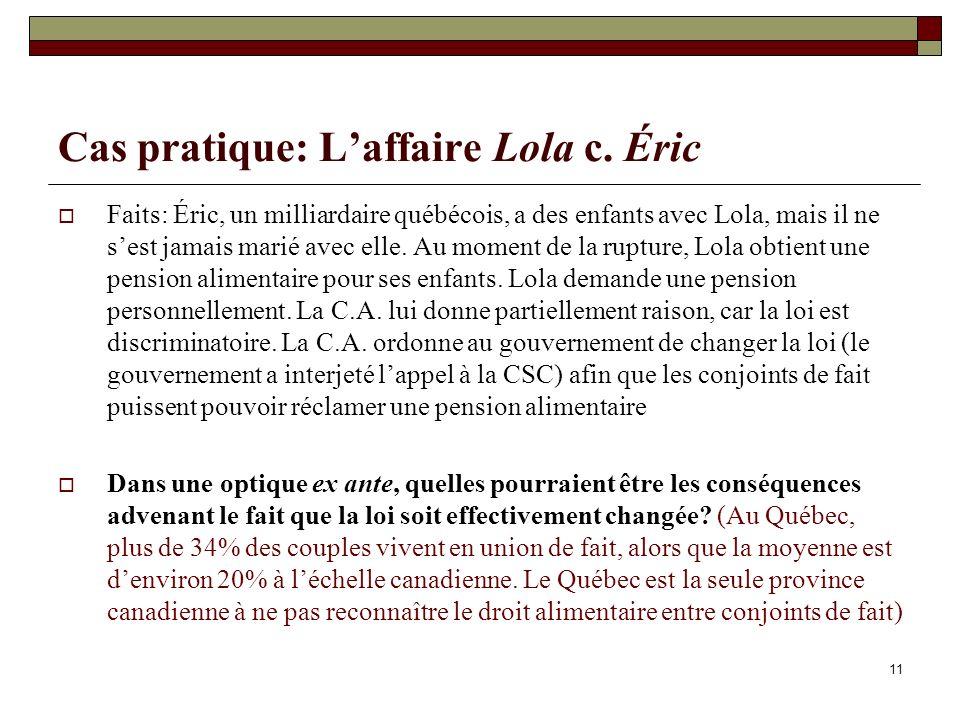 Cas pratique: L'affaire Lola c. Éric