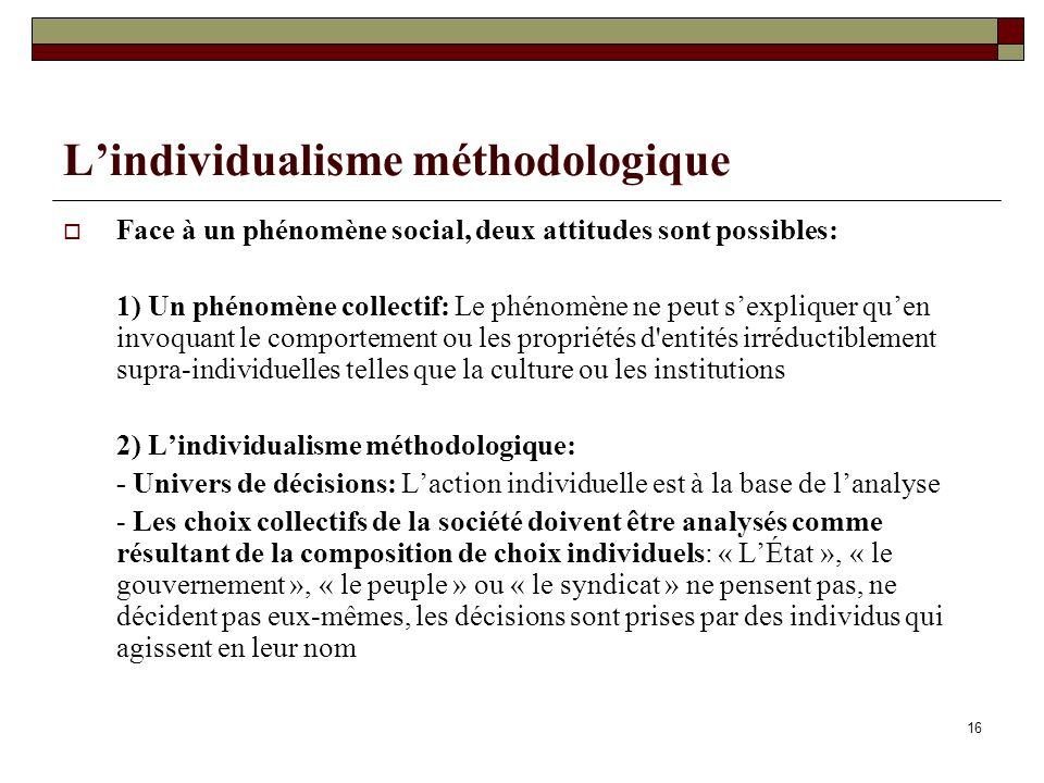 L'individualisme méthodologique