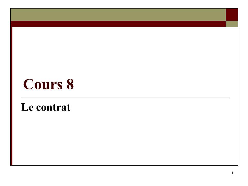 Cours 8 Le contrat