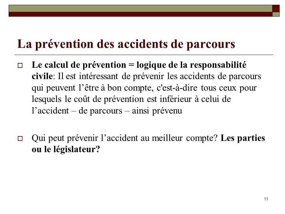La prévention des accidents de parcours