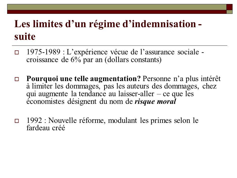 Les limites d'un régime d'indemnisation - suite