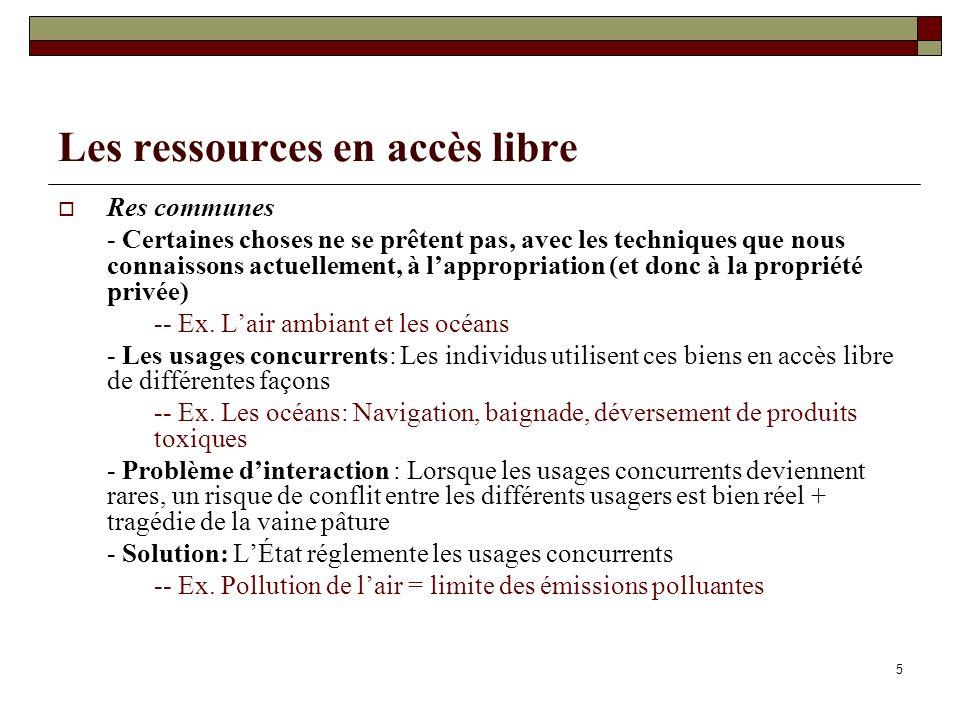 Les ressources en accès libre