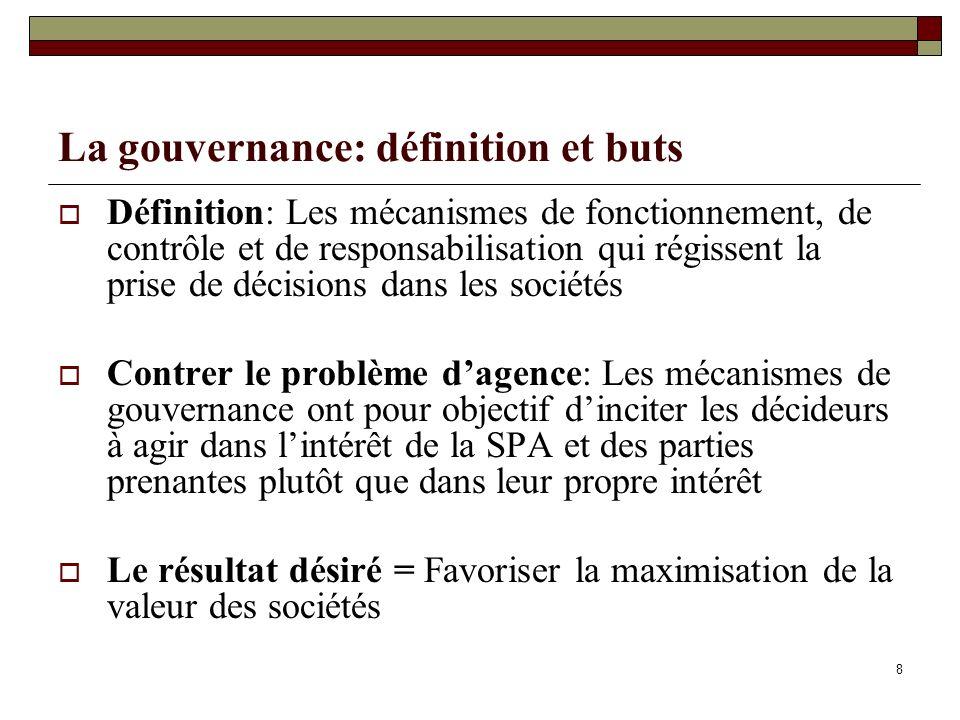 La gouvernance: définition et buts
