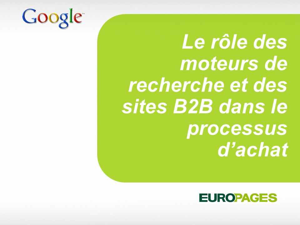 Le rôle des moteurs de recherche et des sites B2B dans le processus d'achat