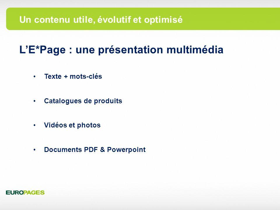 L'E*Page : une présentation multimédia