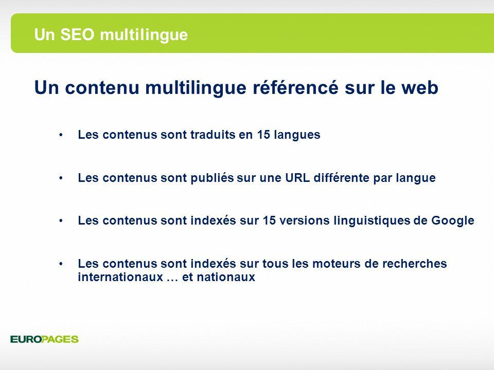 Un contenu multilingue référencé sur le web