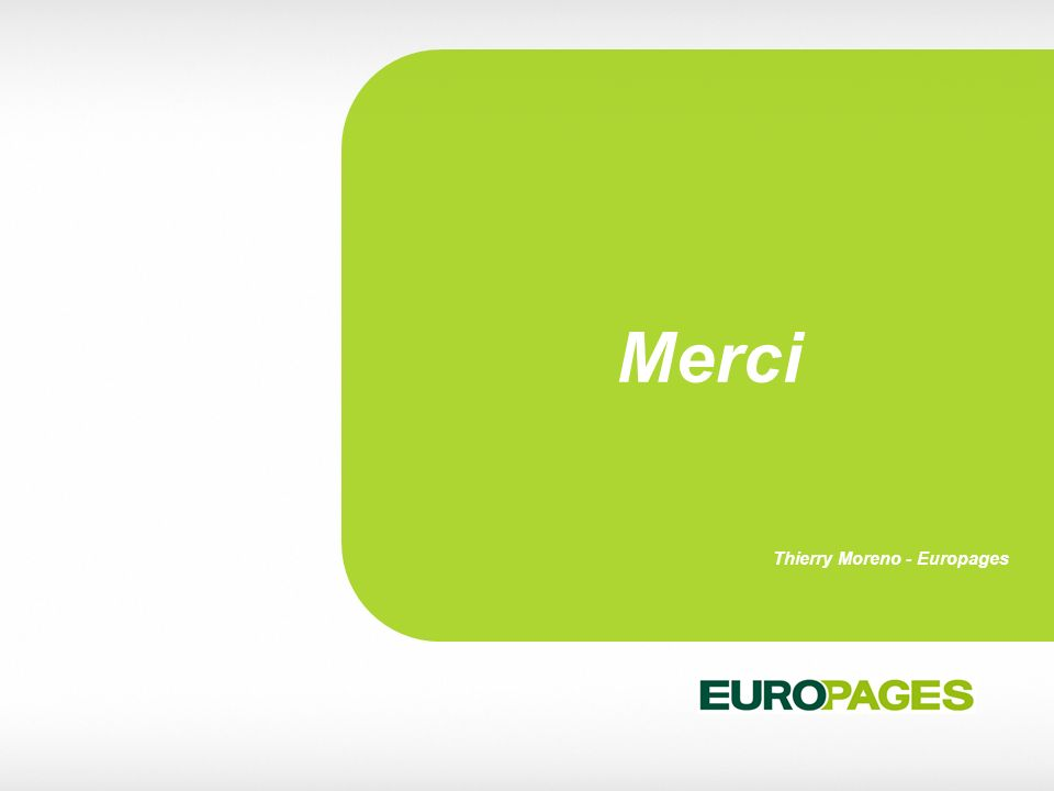 Merci Thierry Moreno - Europages 39