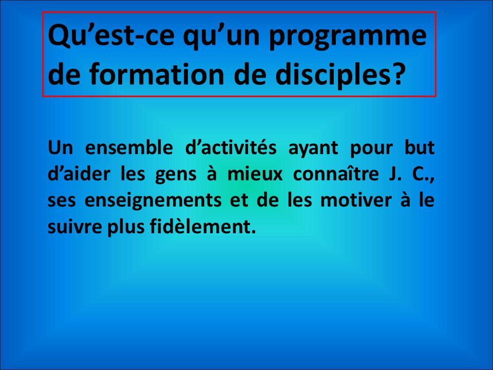 Qu'est-ce qu'un programme de formation de disciples