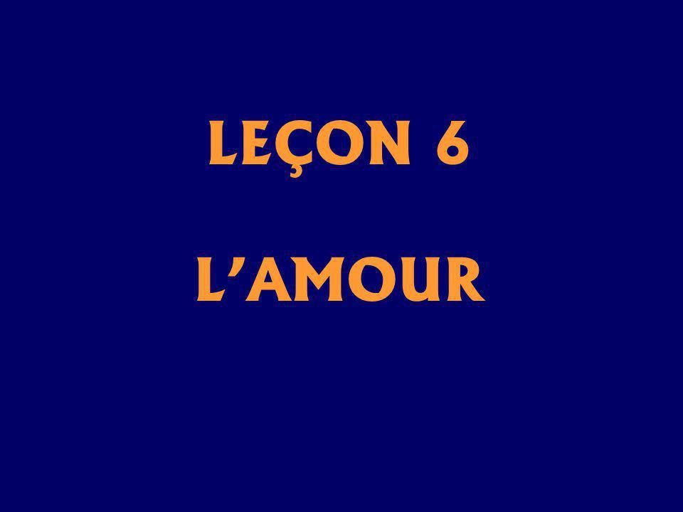 LEÇON 6 L'AMOUR