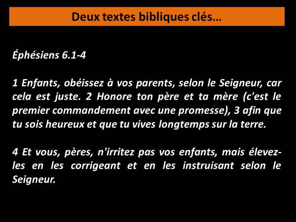 Deux textes bibliques clés…