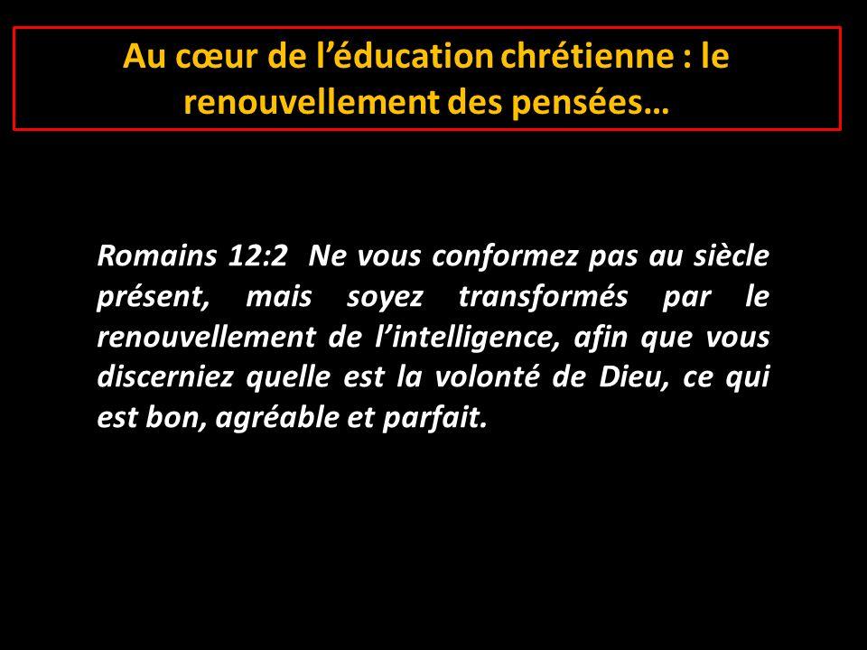 Au cœur de l'éducation chrétienne : le renouvellement des pensées…