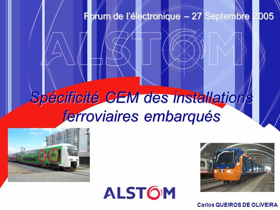 Spécificité CEM des installations ferroviaires embarqués