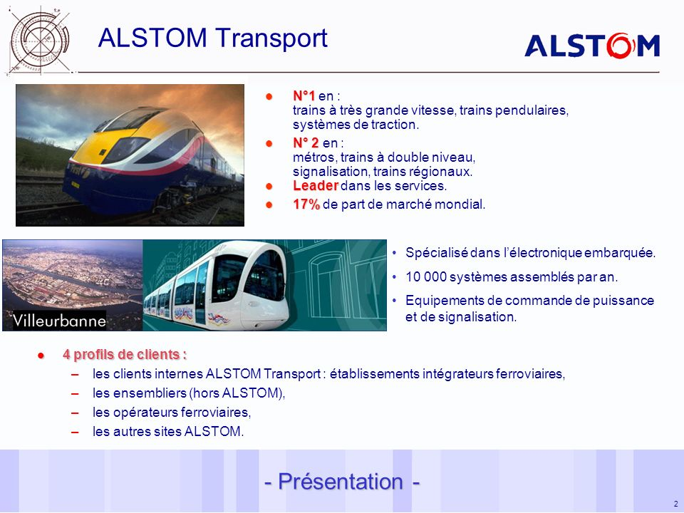 ALSTOM Transport - Présentation -