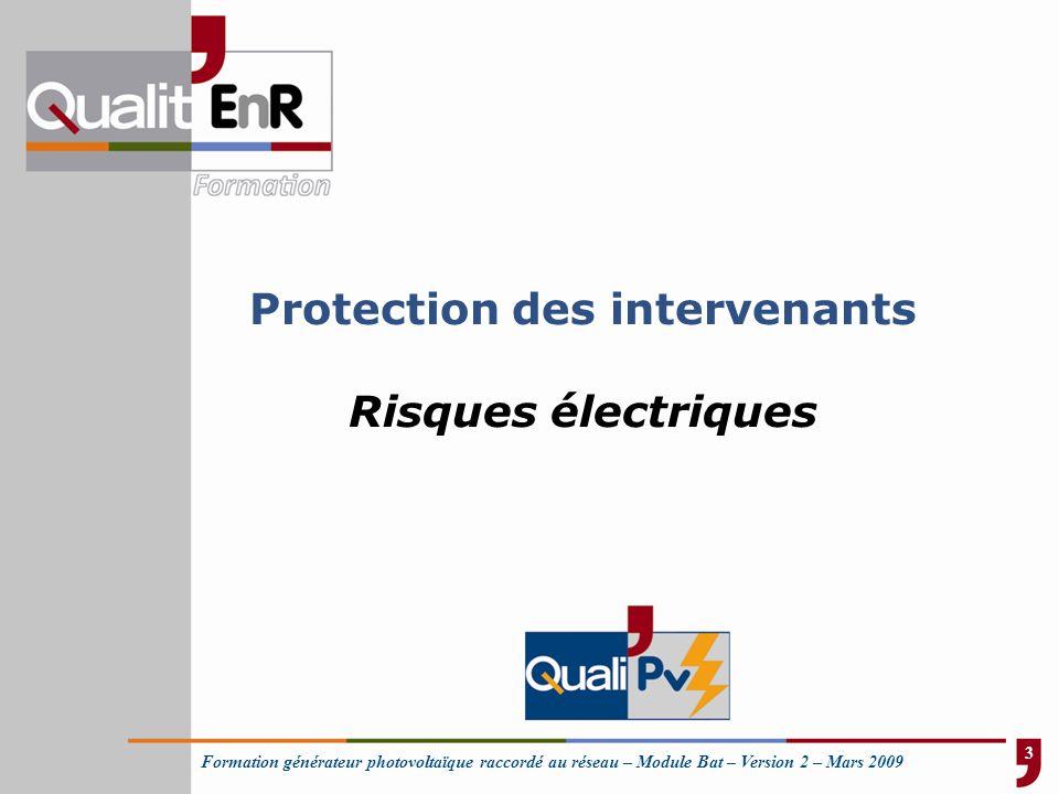 Protection des intervenants Risques électriques