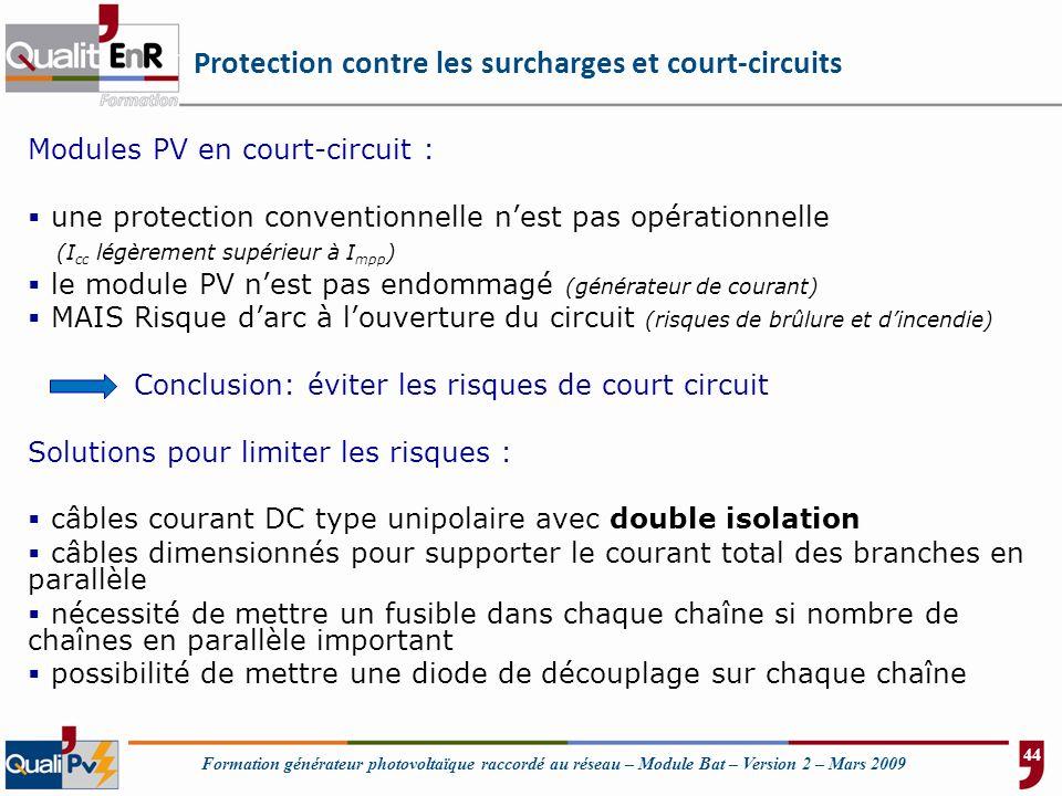 Protection contre les surcharges et court-circuits