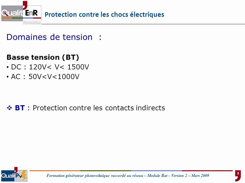 Protection contre les chocs électriques